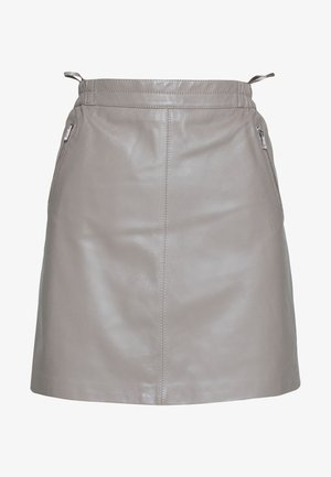 STREET - Leather skirt - mastic