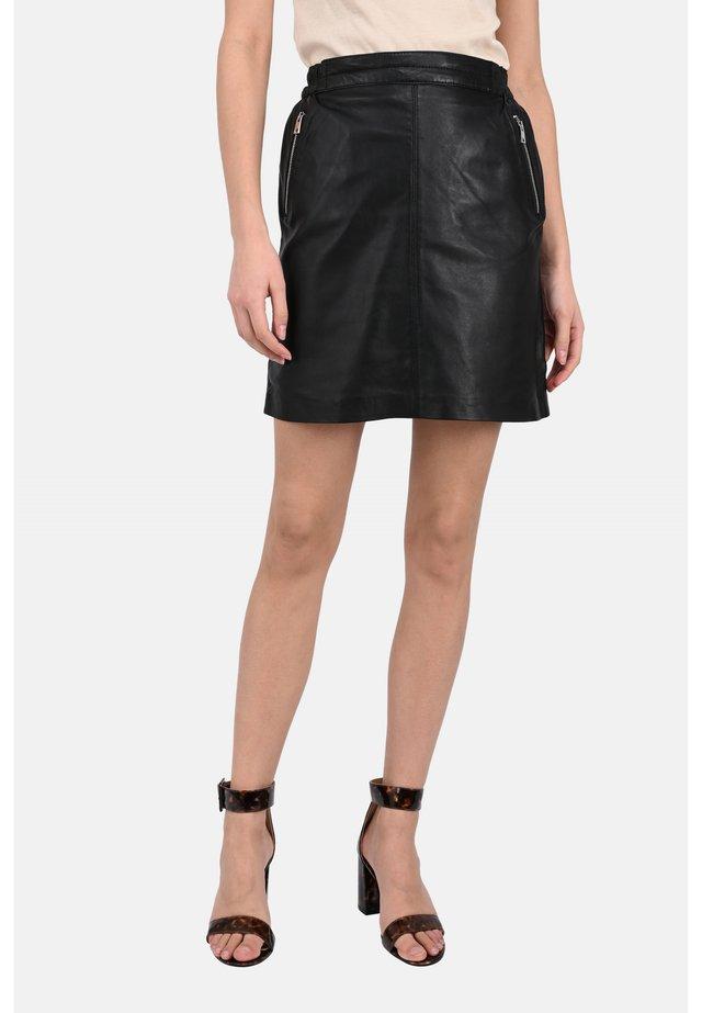 STREET - Leather skirt - black