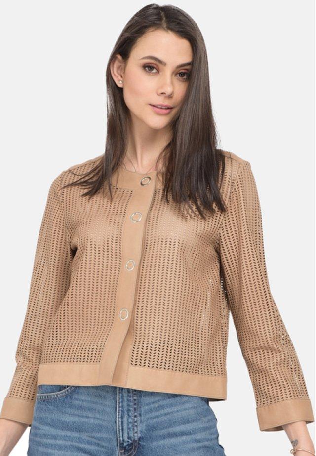 SYMPHONY - Leren jas - beige