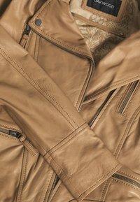 Oakwood - CAMERA - Kožená bunda - brown - 3