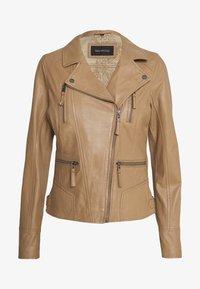 Oakwood - CAMERA - Kožená bunda - brown - 0