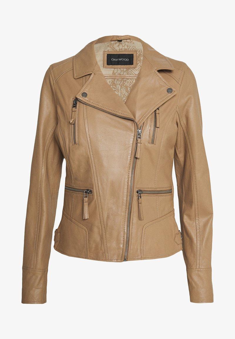 Oakwood - CAMERA - Kožená bunda - brown
