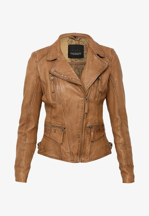 Leather jacket - bronze
