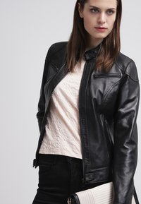 Oakwood - Leather jacket - black - 3