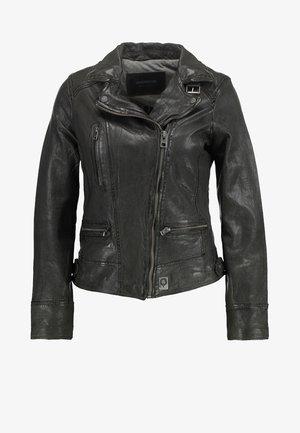 VIDEO - Leather jacket - kaki
