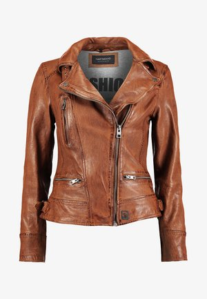 VIDEO - Leather jacket - tan