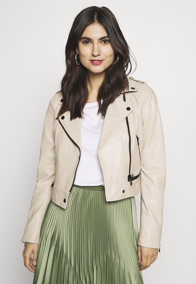 YOKO - Leather jacket - ivory