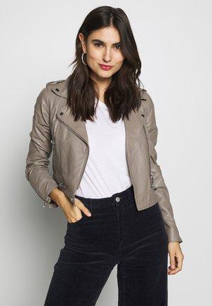 YOKO - Leather jacket - mastic