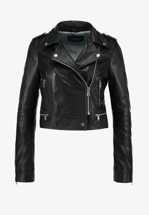 YOKO - Leather jacket - black