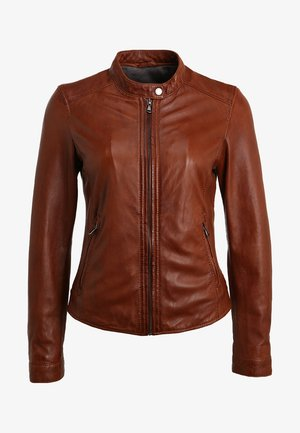 PARADIS - Leather jacket - tobacco