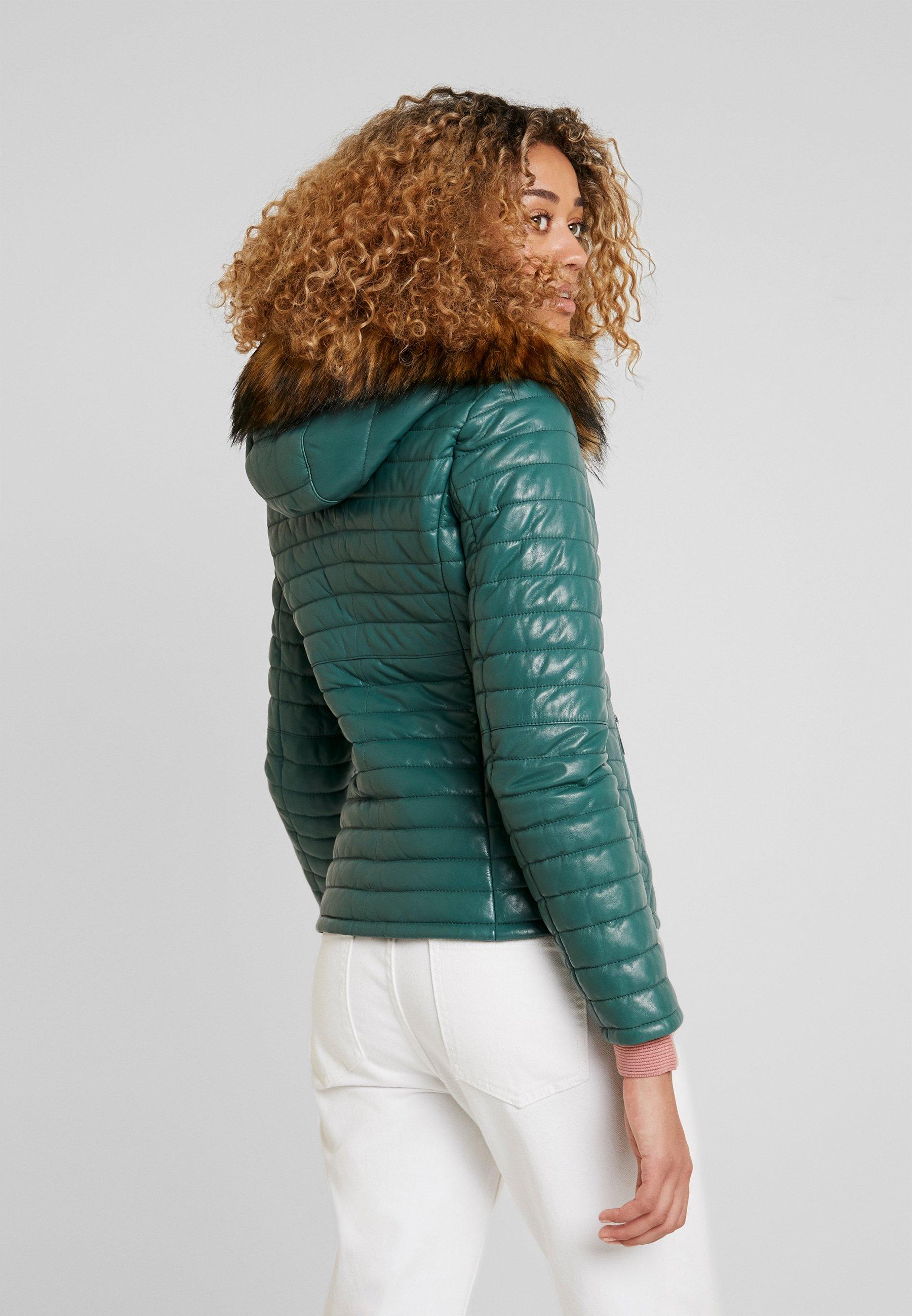Oakwood FURY - Veste en cuir green