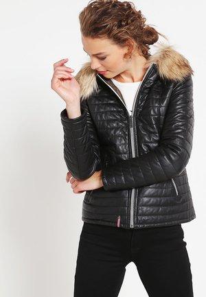 FURY - Veste en cuir - noir