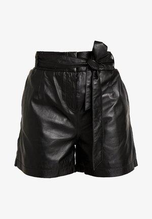 CARMEN - Pantalon en cuir - black