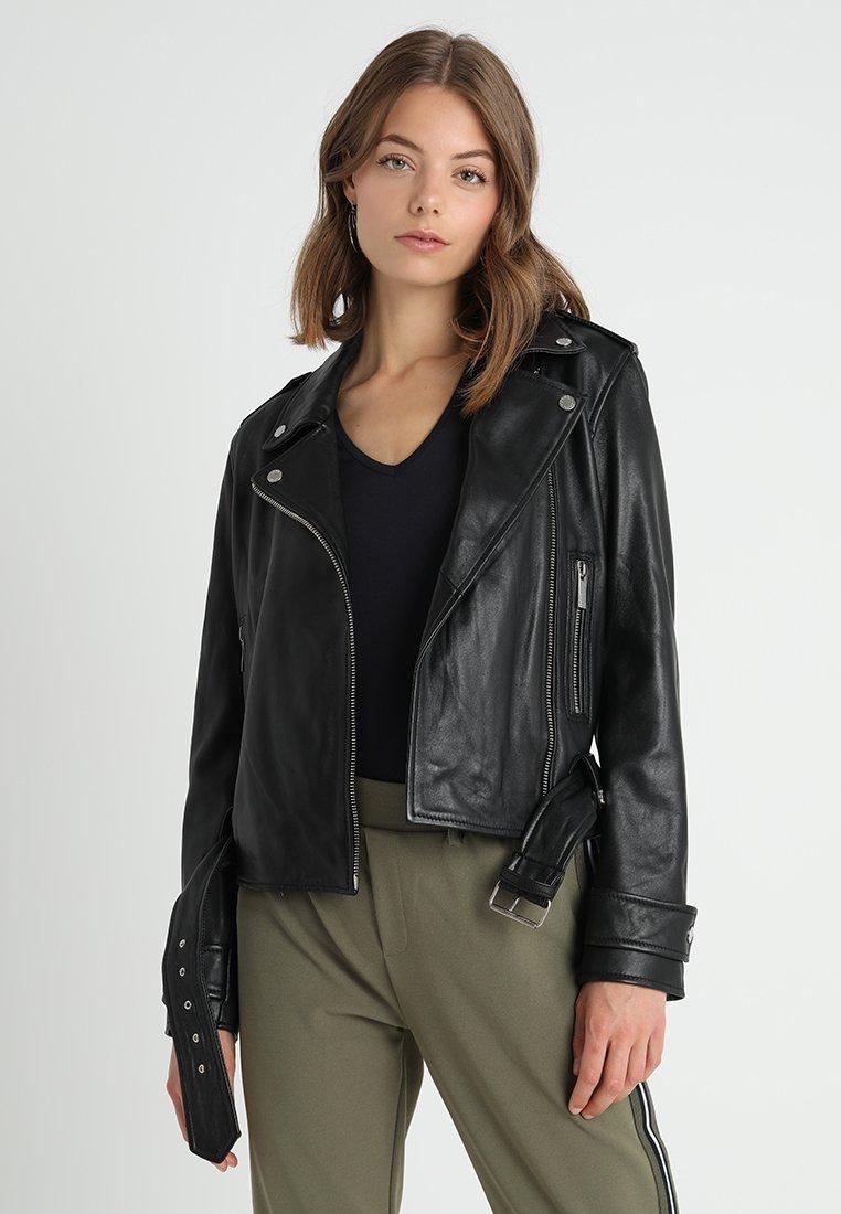 Oakwood - Veste en cuir - black