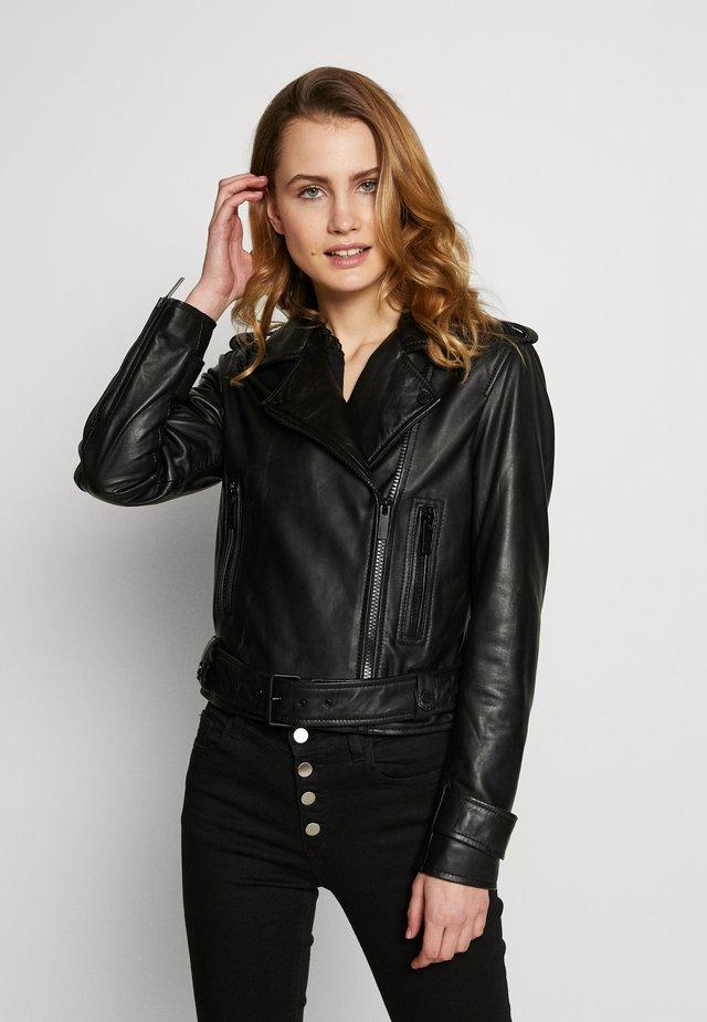 SHOW - Kožená bunda - black