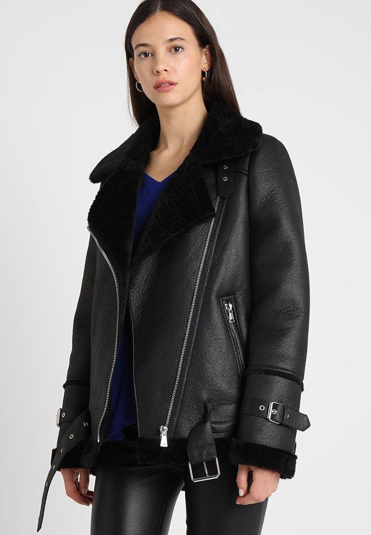 Oakwood - COMMUNITY  - Faux leather jacket - black