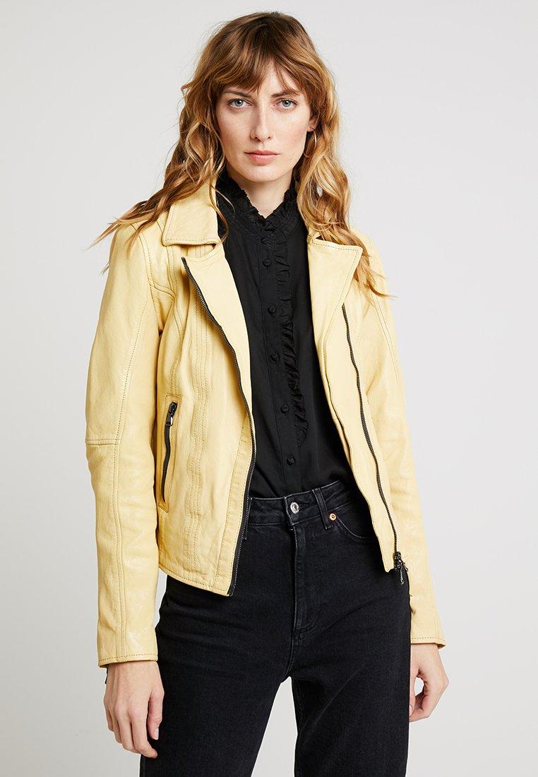 Oakwood - FIDJI - Leather jacket - light yellow