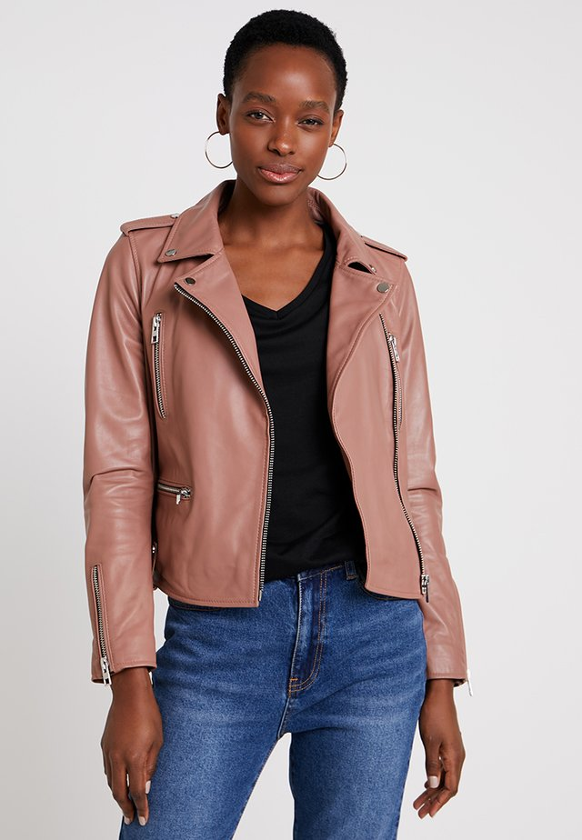NIGHT - Leather jacket - old pink