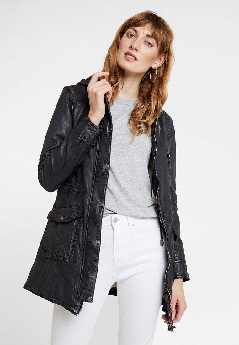 Oakwood - TRIP - Leather jacket - black