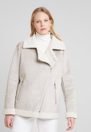 Faux leather jacket - light grey
