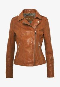 Oakwood - PALM - Leather jacket - cognac - 4