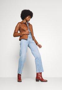 Oakwood - PALM - Leather jacket - cognac - 1