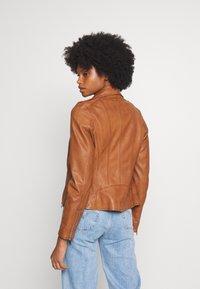 Oakwood - PALM - Leather jacket - cognac - 2