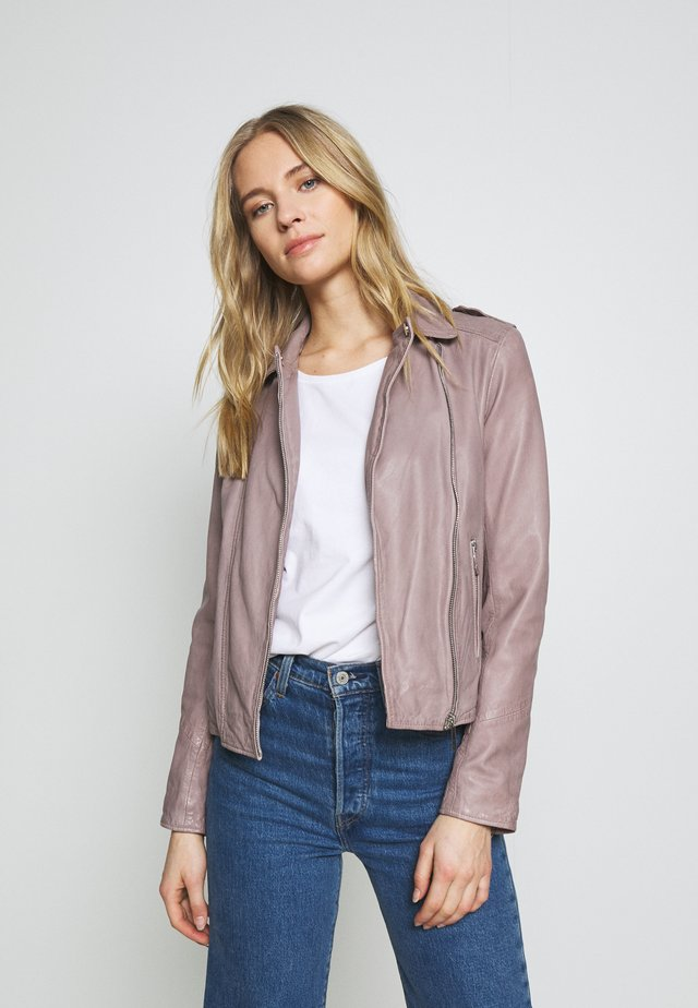 PALM - Veste en cuir - grey