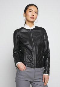 Oakwood - MICHELLE - Leather jacket - black - 0
