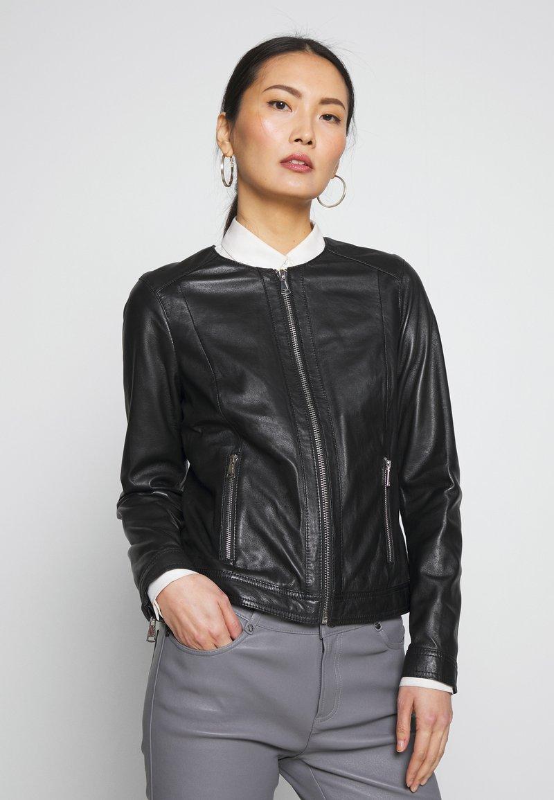 Oakwood - MICHELLE - Leather jacket - black