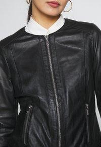 Oakwood - MICHELLE - Leather jacket - black - 5