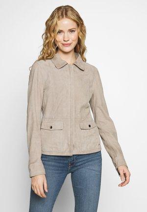 SYLVIA - Leather jacket - beige