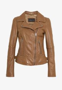 Oakwood - ADELE - Leather jacket - cognac - 4