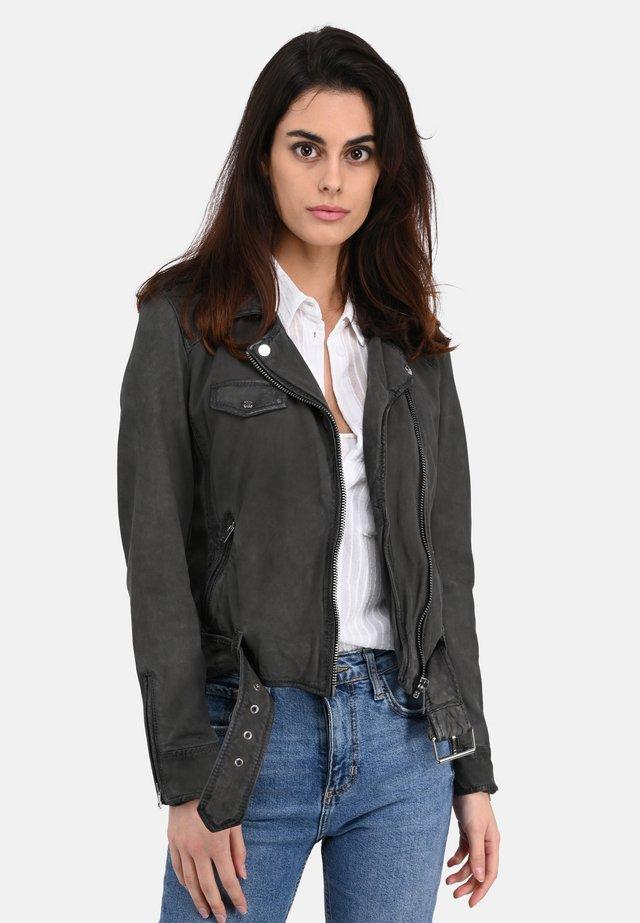Leather jacket - grey
