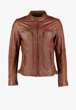 CASEY  - Leather jacket - tobacco