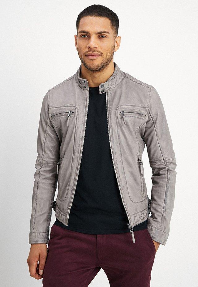 CASEY  - Leather jacket - beige