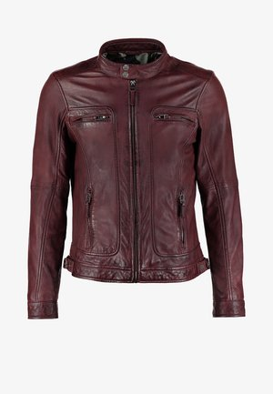 CASEY  - Veste en cuir - bordeaux