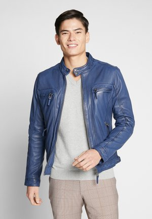 CASEY  - Leather jacket - cobalt