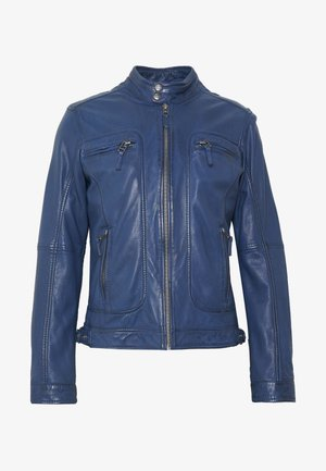 CASEY  - Leather jacket - cobalt