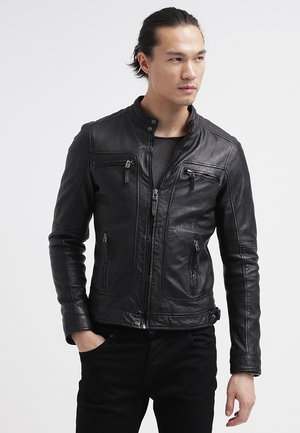 CASEY  - Leather jacket - black