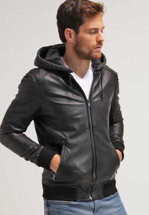 JIMMY - Kožená bunda - noir