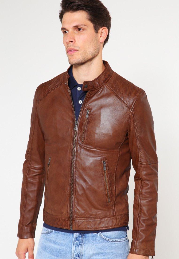 Oakwood - AGENCY - Leather jacket - tobacco