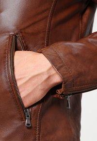 Oakwood - AGENCY - Veste en cuir - tobacco - 4
