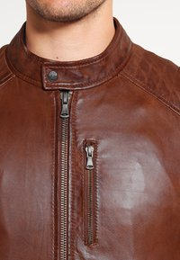 Oakwood - AGENCY - Veste en cuir - tobacco - 3