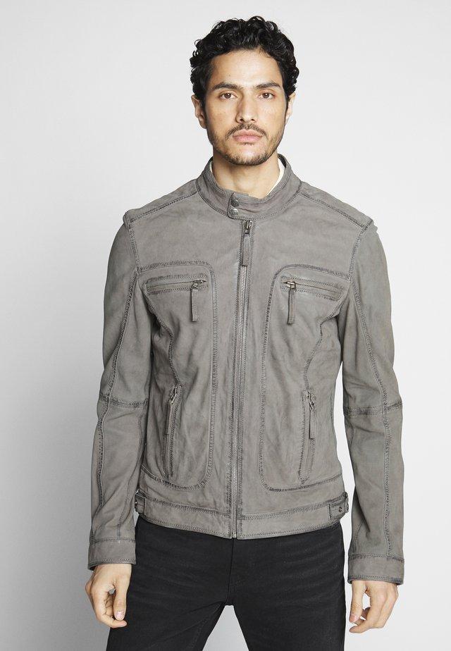 CASTEL - Leather jacket - grey