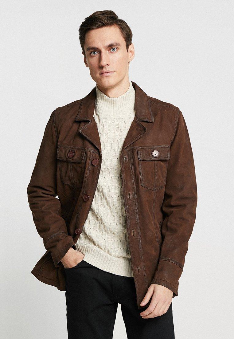 Oakwood - JAMES - Leather jacket - brown