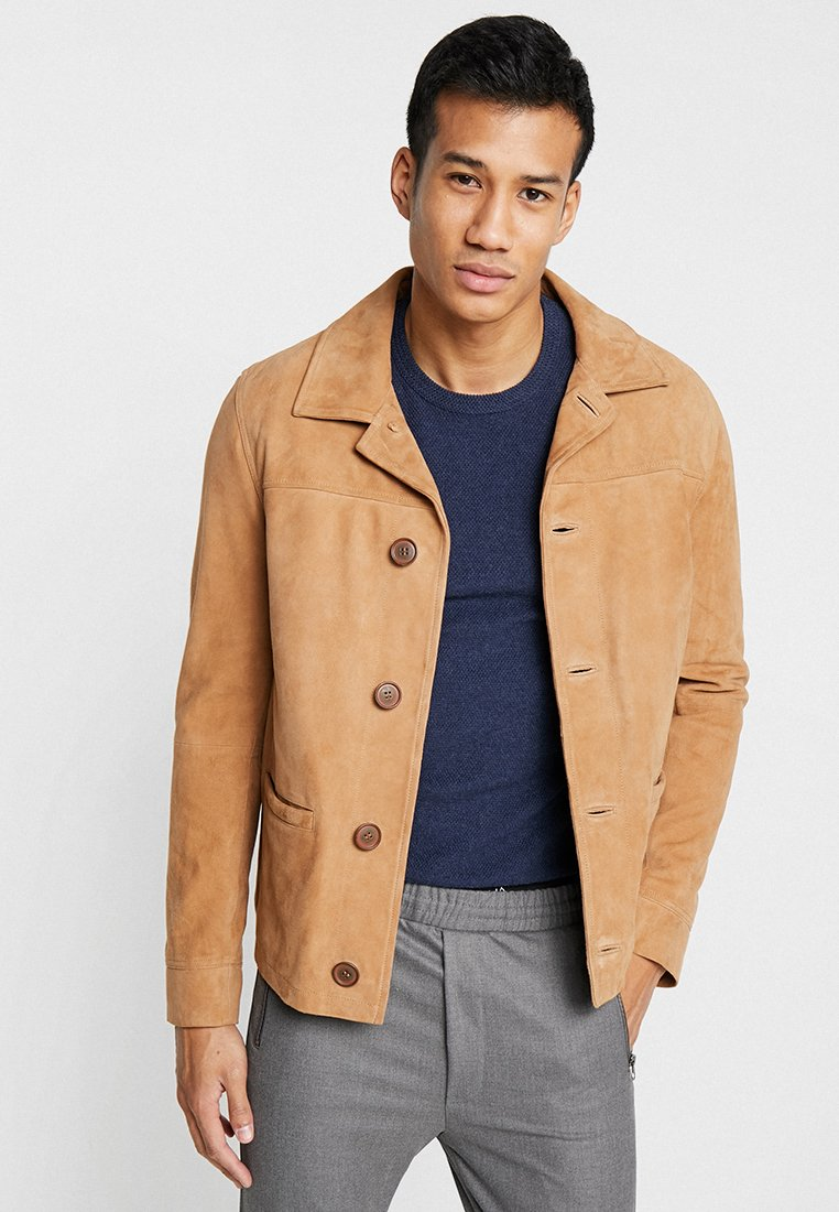 Oakwood - CLIFF - Lederjacke - beige