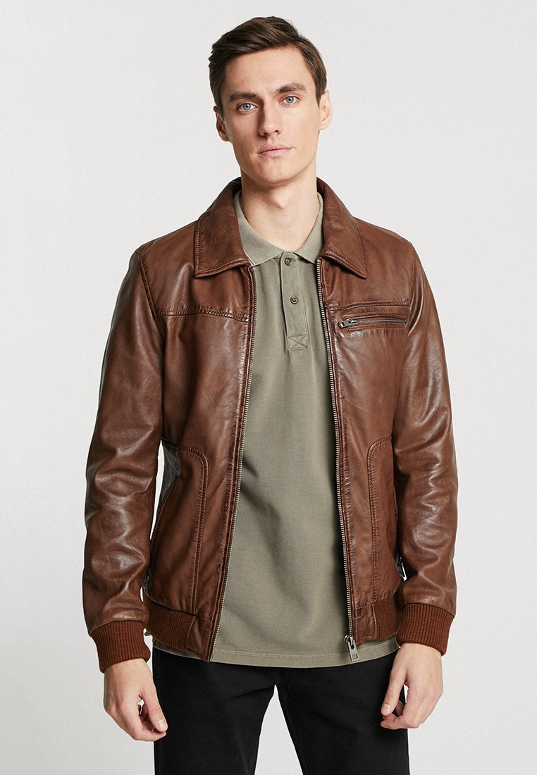 Oakwood - BILLY - Lederjacke - brown