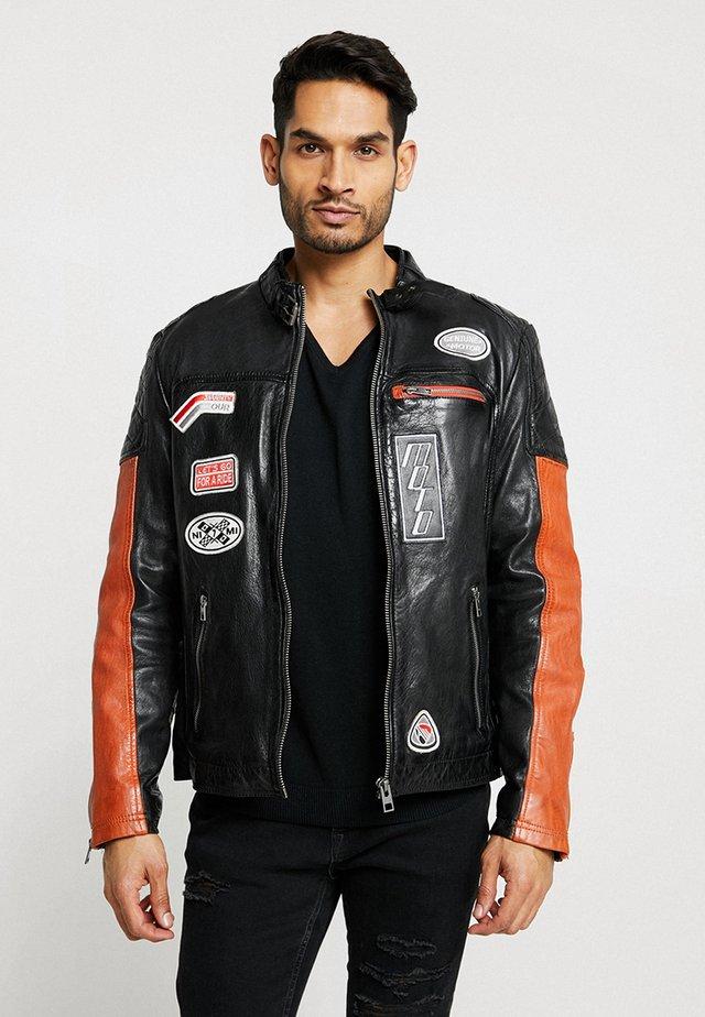 INDIE - Veste en cuir - black