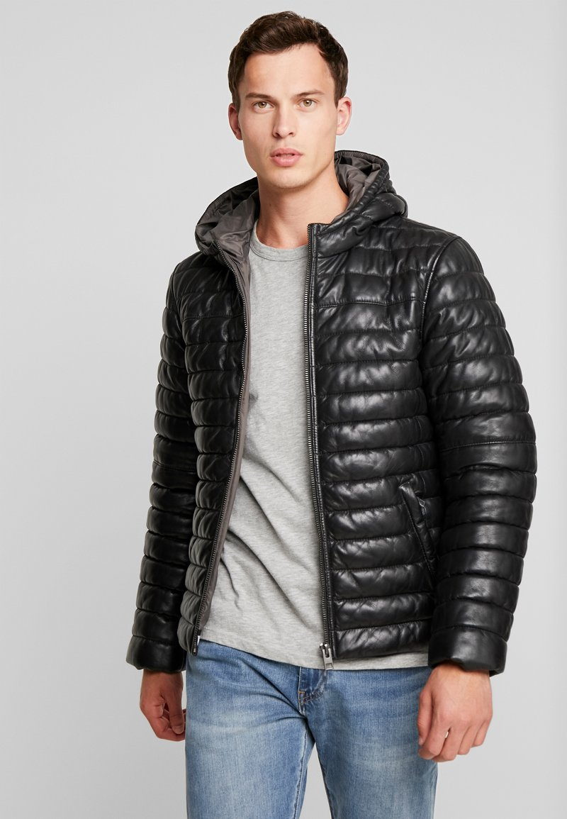 Oakwood - ACTION - Leather jacket - black